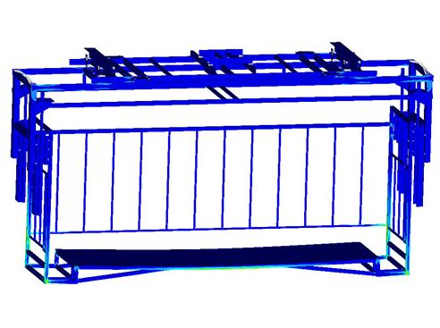 装货用吊篮强度有限元分析