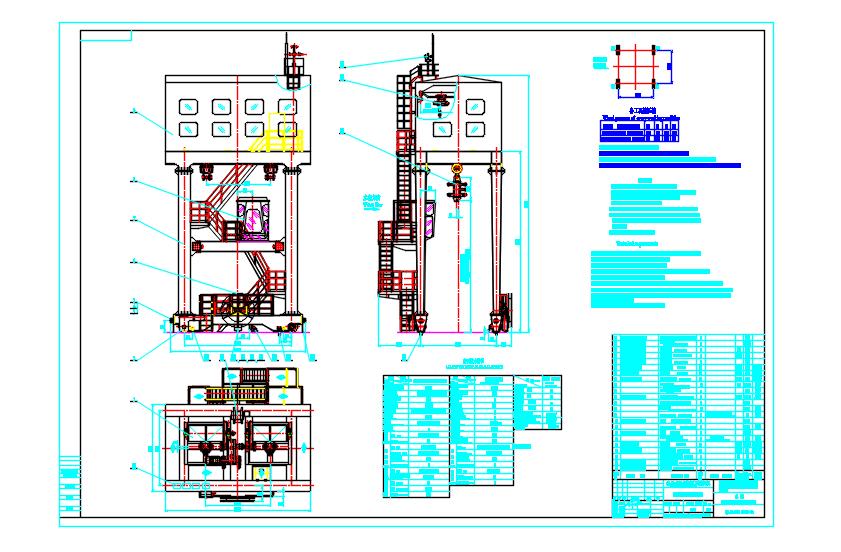 原稿-QM2&amp#215;200kN单向门式启闭机全套工程图.rar