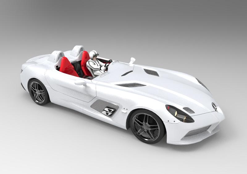 梅赛德斯;SLR斯特林;莫斯(特别版,2010年)汽车模型.rar