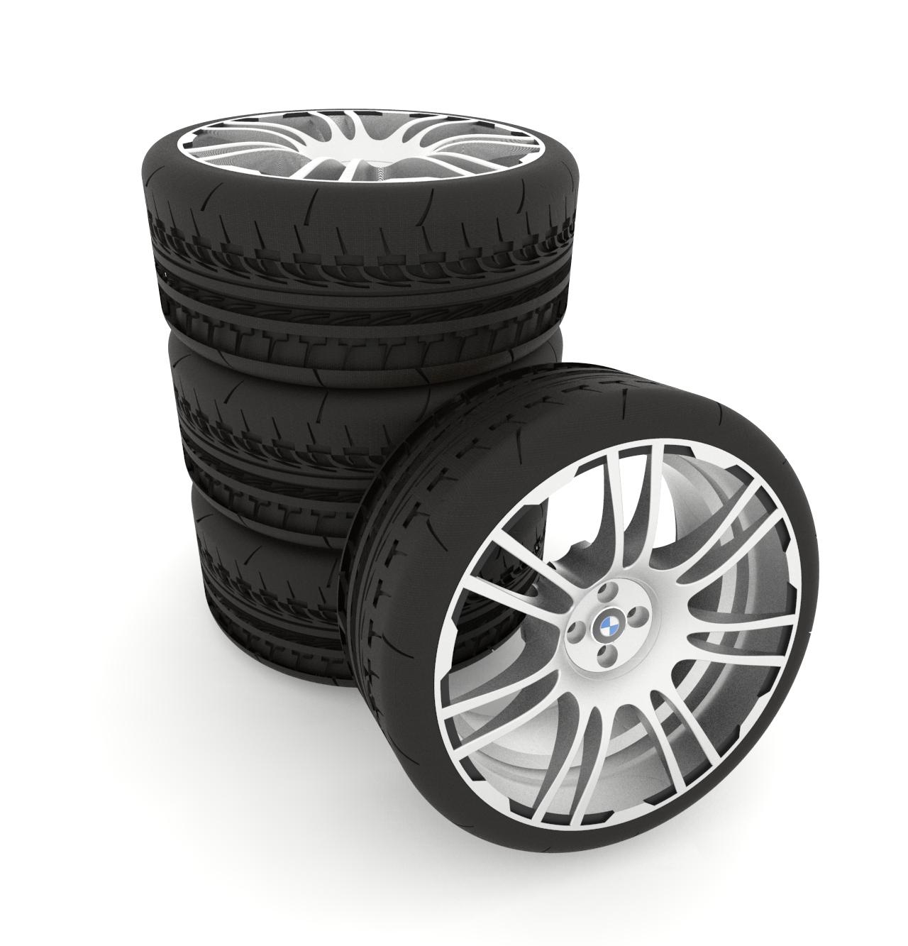 含轮毂造型的宝马汽车轮胎设计模型【solidworks 2019】.rar