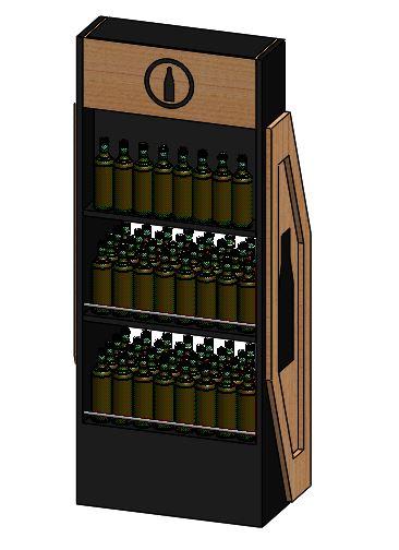 木酒瓶参展柜设计模型【solidworks】.rar