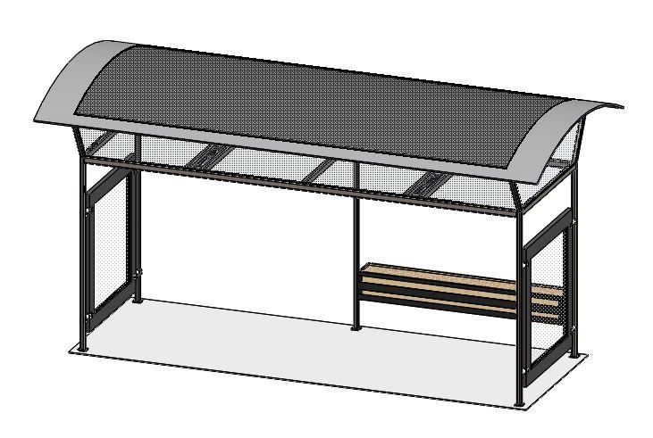 太阳能电池板供电绿色环保公交站设计模型【solidworks 2019】.rar