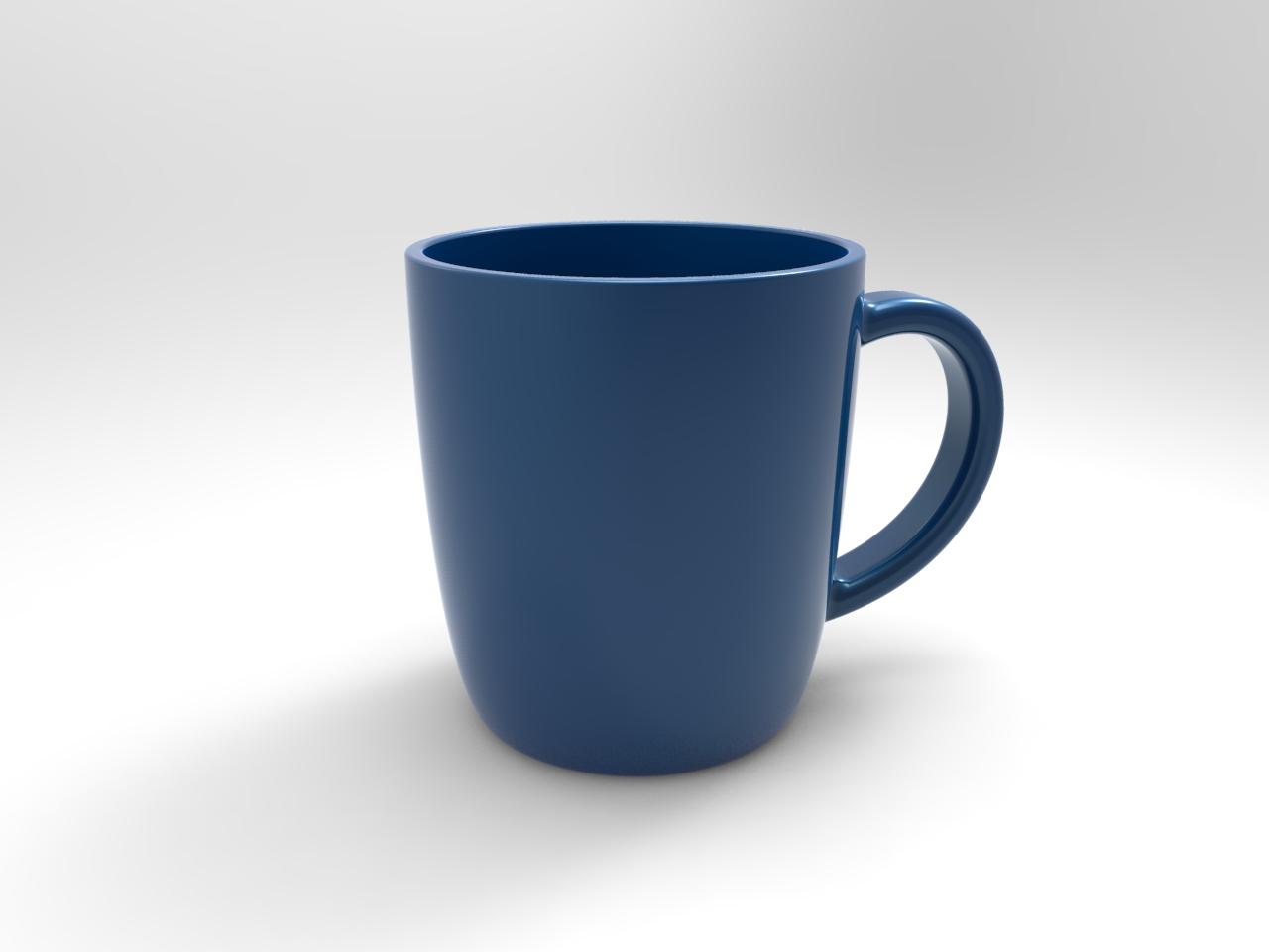 一个蓝色咖啡杯设计模型【solidworks 2019】.rar