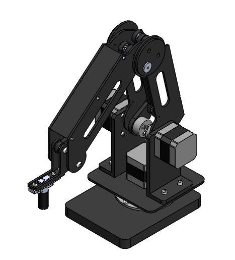 激光切割机器人手臂模型【solidworks】.rar
