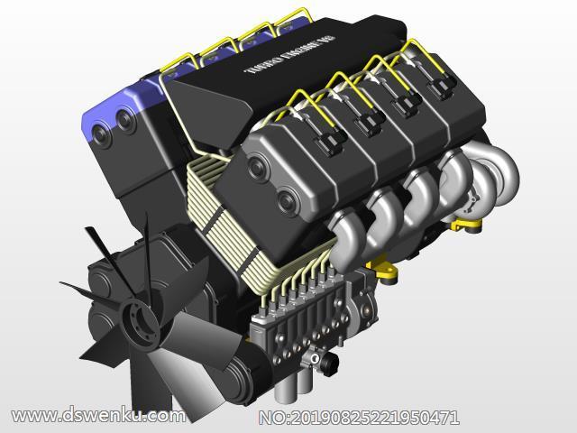 卡车发动机V8柴油涡轮发动机结构设计.zip