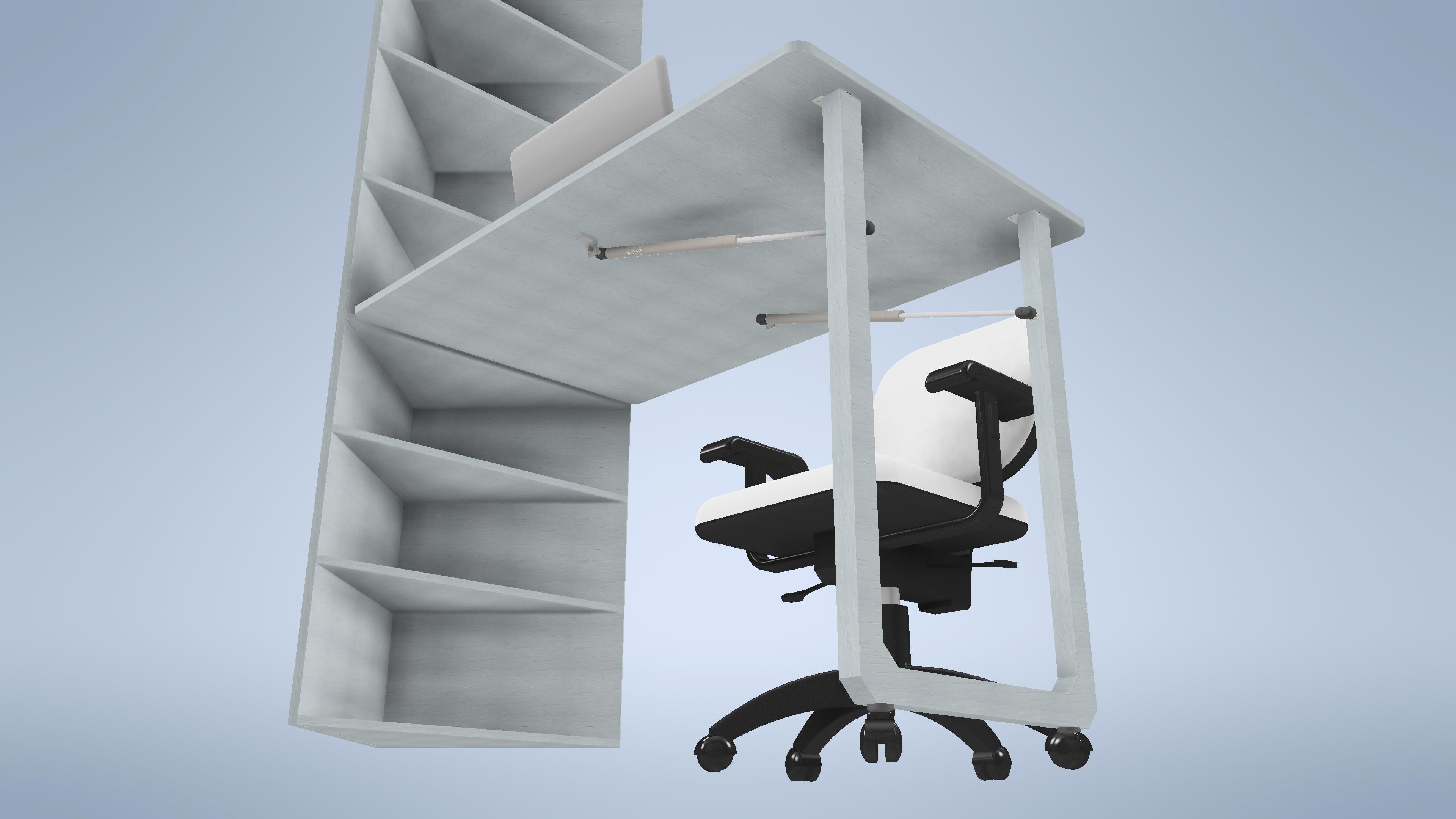 可伸缩办公座椅组合结构设计模型【inventor2019】.rar