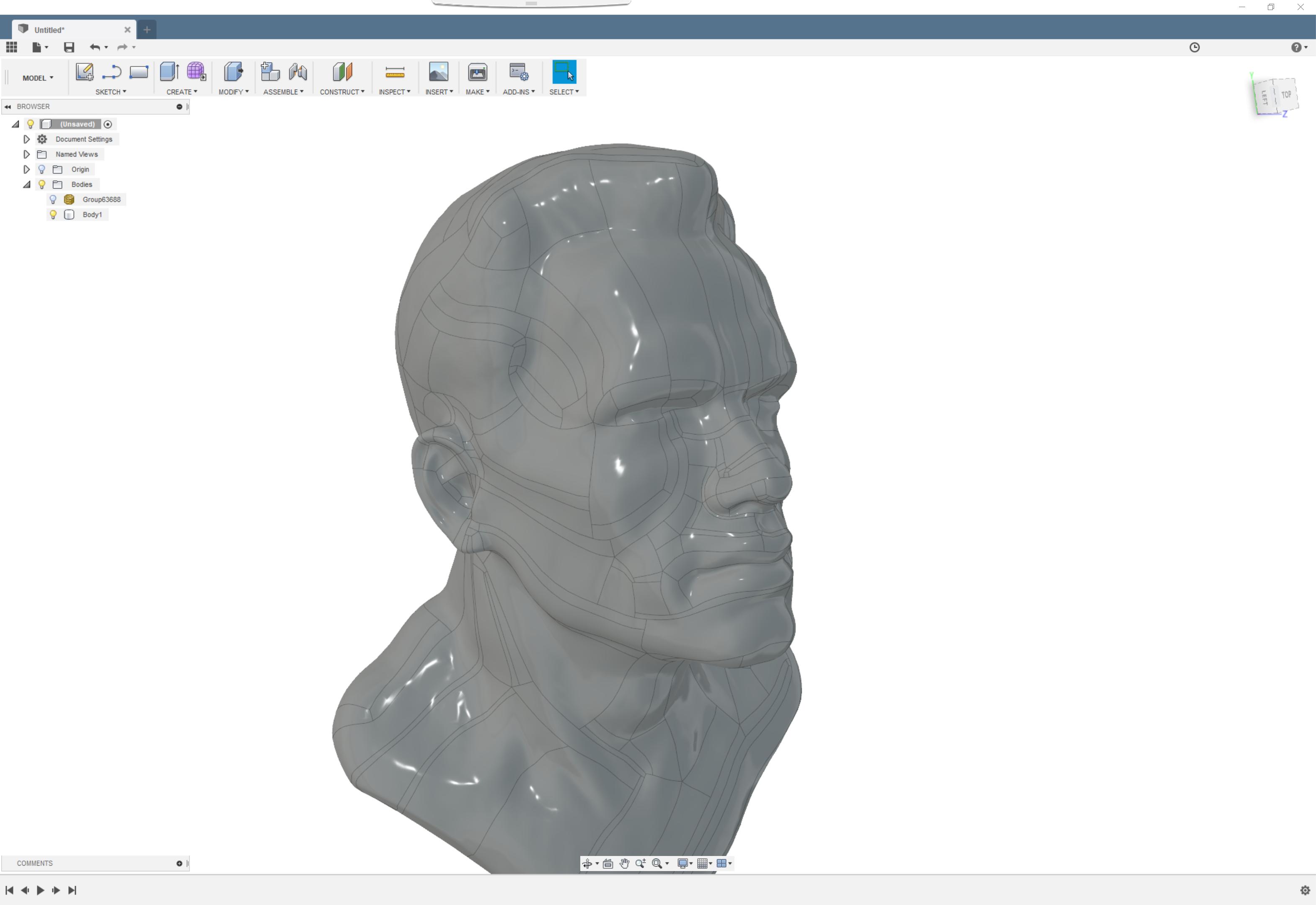 施瓦辛格半身3D扫描图像【step】.rar
