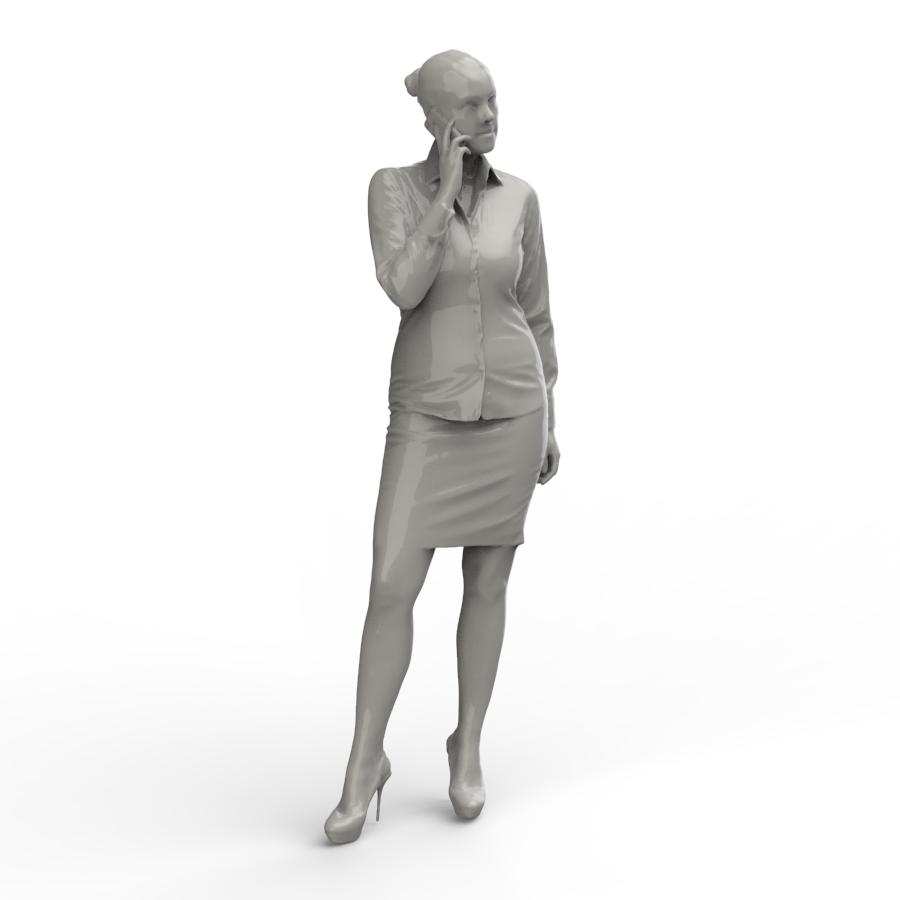 打手机的女孩3D扫描模型【step】.rar