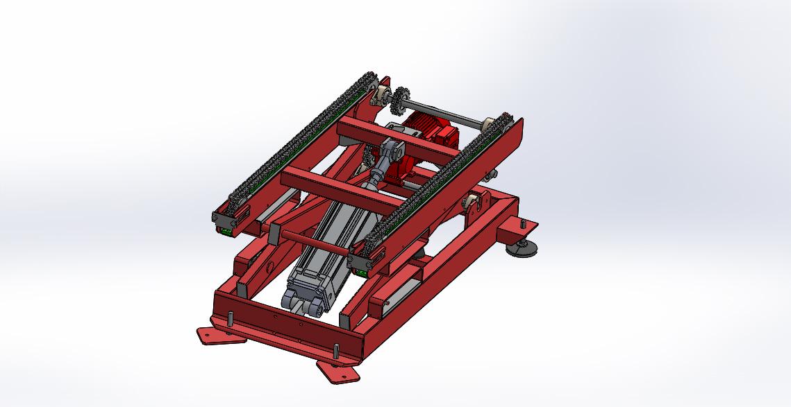 气缸推动升降平台结构设计【SolidWorks】.rar