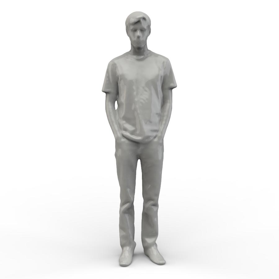 小男孩3D扫描图像【step】.rar