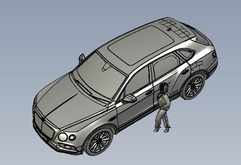 宾利添越汽车三维模型.rar