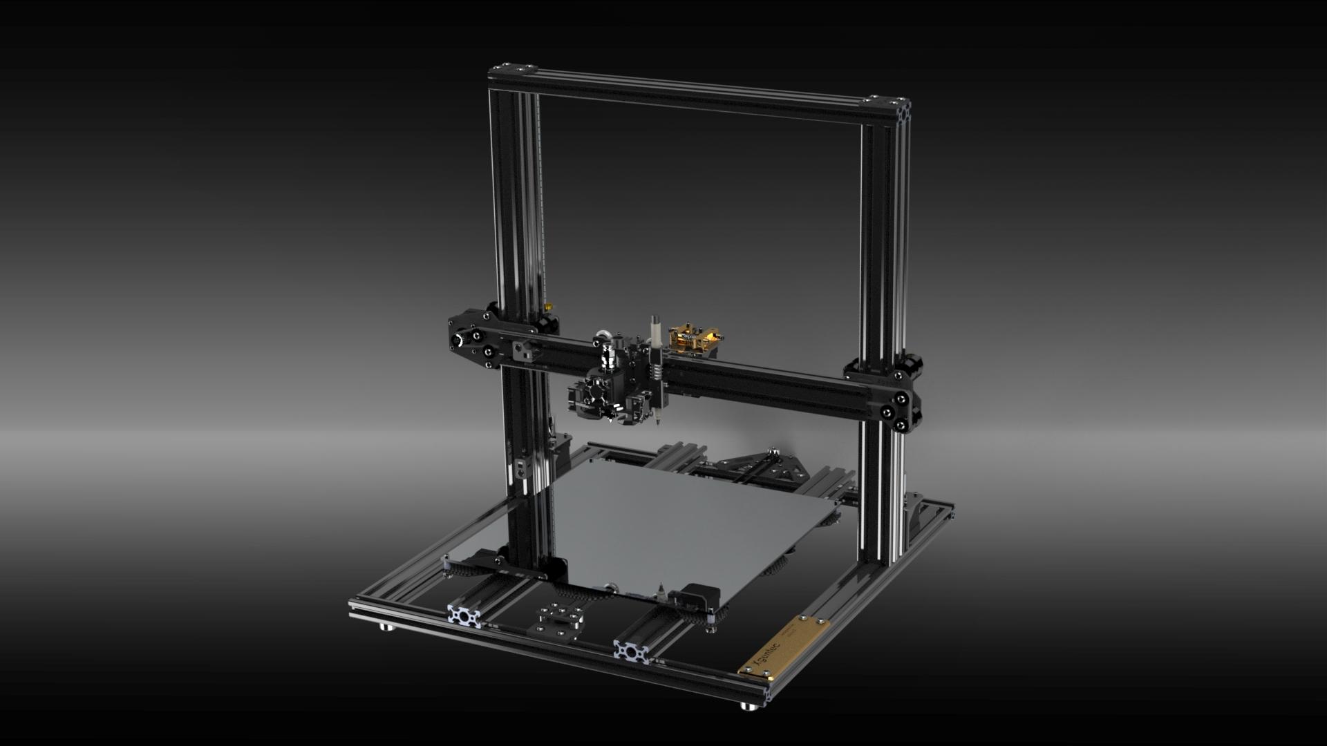 3D-pcb打印机结构设计模型【solidworks】.rar