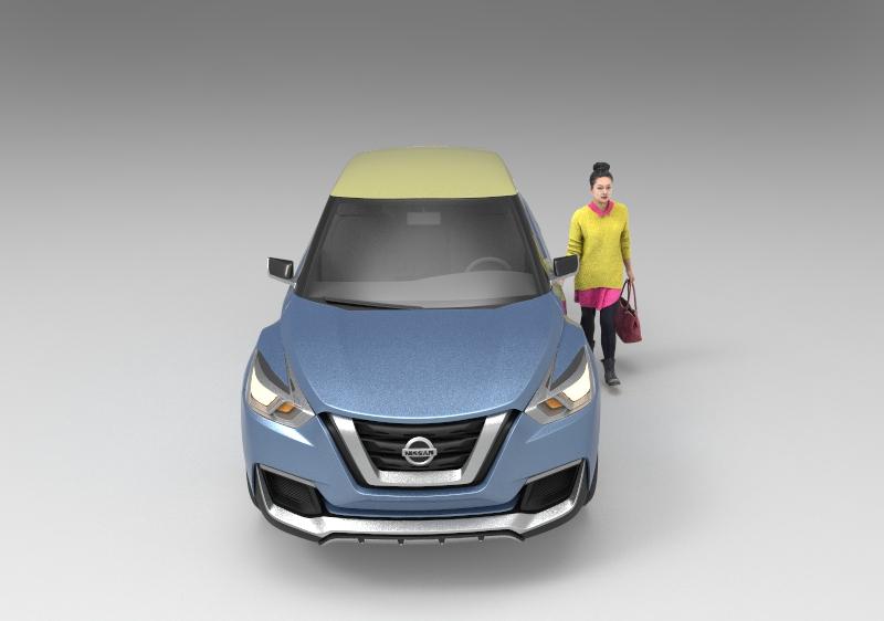 日产推出第一版(2014年)suv汽车模型.zip
