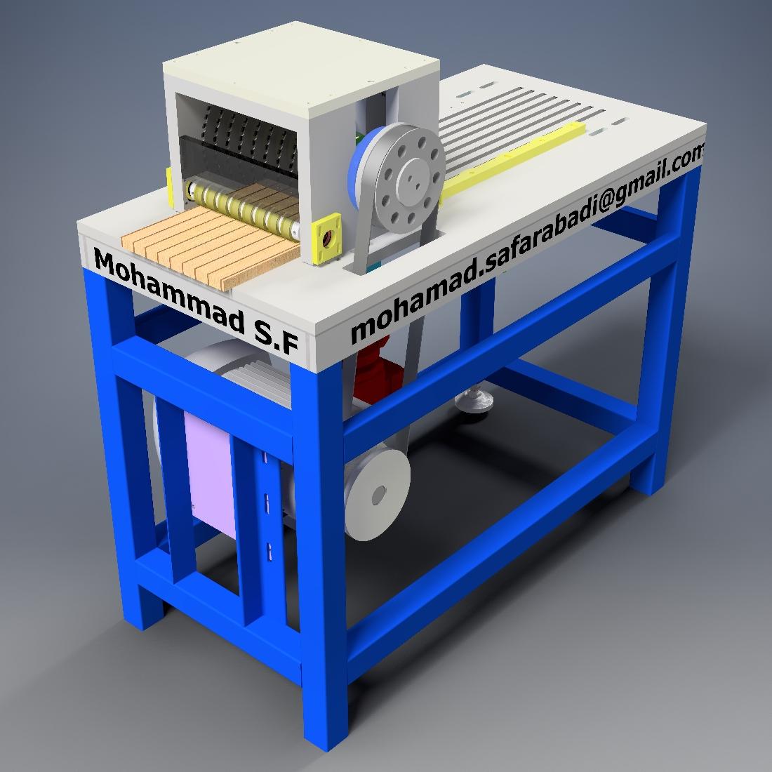 木板多开锯机结构设计【inventor模型】.zip