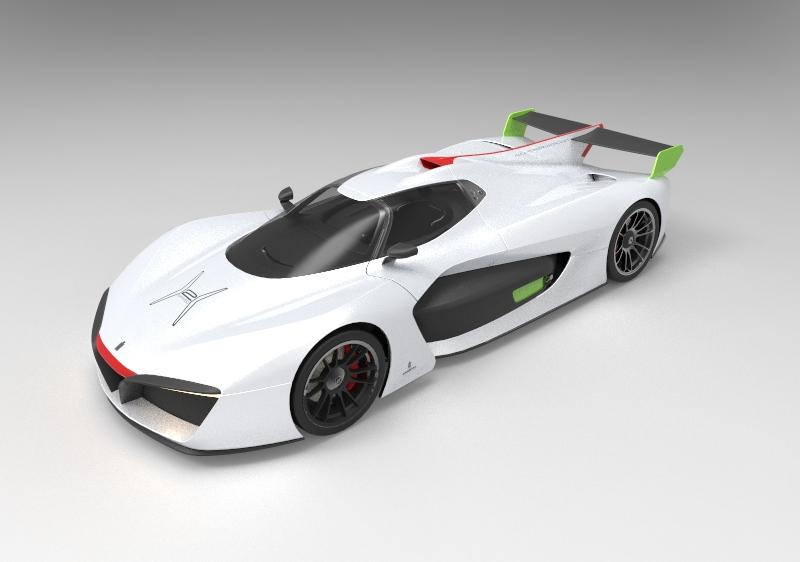 Pininfarina H2(氢燃料)2018年汽车模型.zip