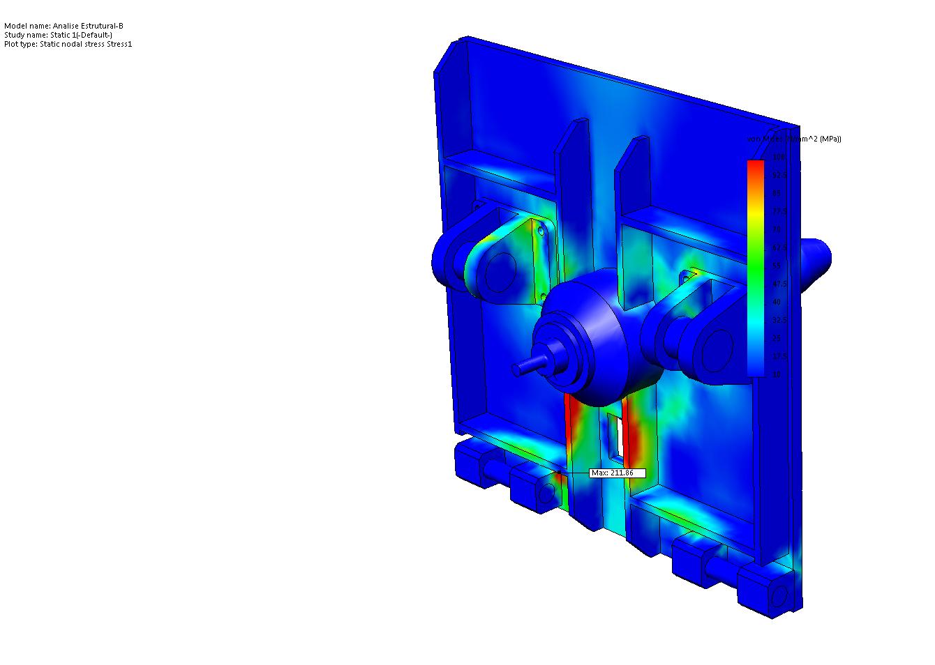 液压起落架机架部分结构及其仿真分析.zip