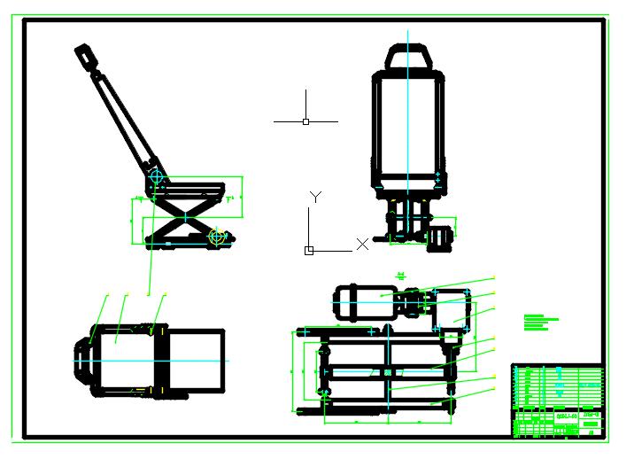 基于proe的汽车座椅调节机构设计【含CAD、proe三维】.rar