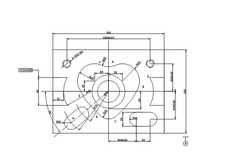 数控铣高级心型零件工艺设计及程序编制(含cad图).rar