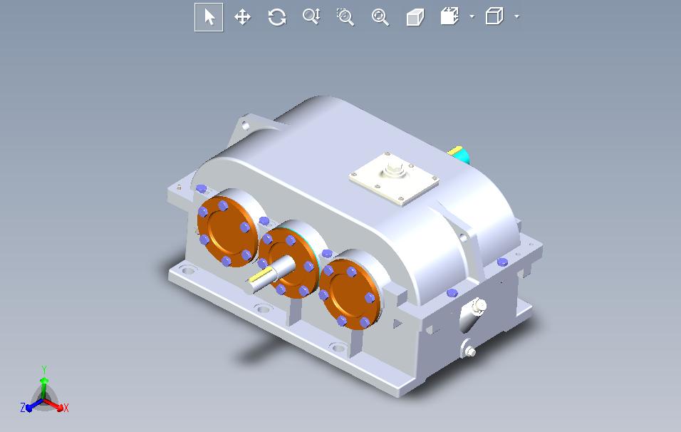 二级直齿圆柱齿轮减速器设计【CAD+SolidWorks+说明书】.rar